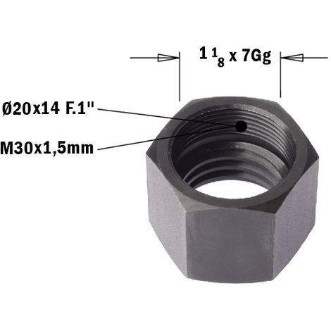 993.530.02 CAP NUT FOR ROUTERS M30X1,5 LH