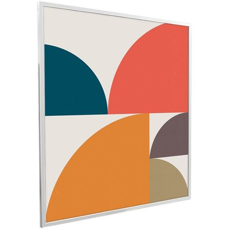 995x1195 Abstract Circles NXT Gen Infrared Heating Panel 1200W - Different Frame Colours Available