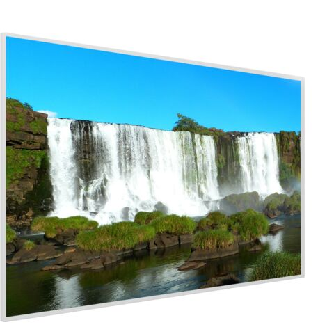 995x1195 Crashing Falls NXT Gen Infrared Heating Panel 1200W - Different Frame Colours Available