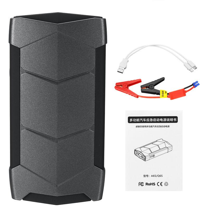 99900mah 12V LED Chargeur Batterie Voiture Démarrage Démarreur Booster Starter - Noir
