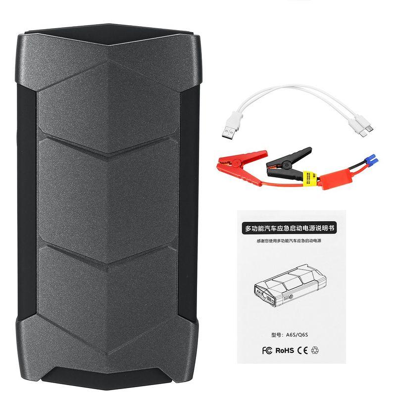 Insma - 99900Mah 12V Led Chargeur Batterie Voiture Démarrage Démarrage Booster Starter - Noir