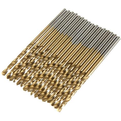 99PCS HSS Broca helicoidal Broca de fresado de acero de titanio Taladro 1.5mm-10mm Mohoo