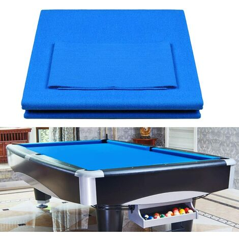"""main image of """"9ft Pool Table Cloth Worsted Wool Entertainment Nylon Billiard High Quality Felt Accessories Pool Table Cover Snooker Table(Blue)"""""""