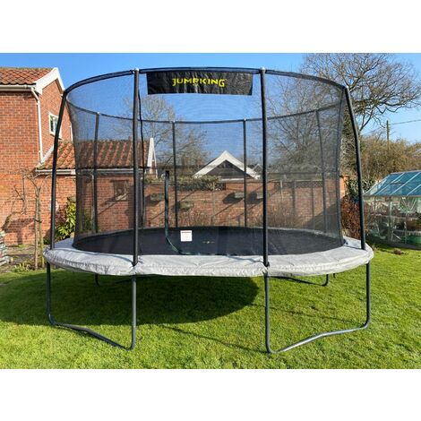 """main image of """"9ft x 13ft JumpKing Oval Combo Pro Trampoline"""""""
