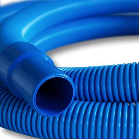 9m - 38mm -Swimming Pool Hose Vacuum Eva flex Pool with glued Sleeves 250g/m - Made in Europe