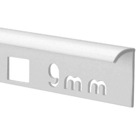 9mm Quadrant Economy Tile Trim White - PVC