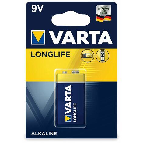 9V-Blockbatterie,VARTA, LONGLIFE, 1St.(Blister)