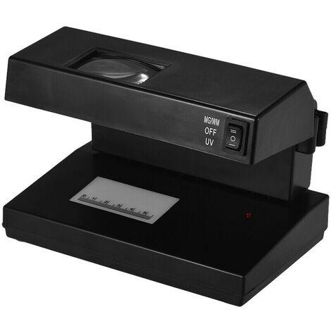 9W 2-en-1 Detector de plata UV Mini Comprobador de Falsificacion de dinero del banco Polimero Papel de nota y el detector