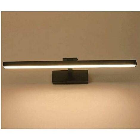 "main image of ""9W / 40cm LED Bathroom Light,, Mirror Cabinet Lamp, Adjustable Angle Wall Lamp, AC85-265V, 6000K (Black / Warm White)"""