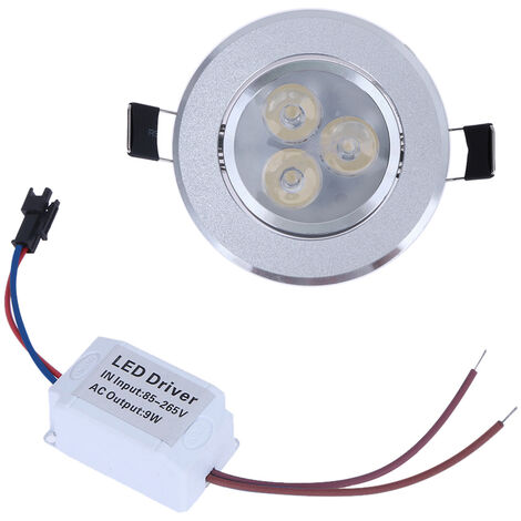"main image of ""9W LED Downlight Ceiling Lamp Spot Light Recessed AC85-265V Lamp + LED Driver for Home Illumination (Warm white),model:Warm white"""