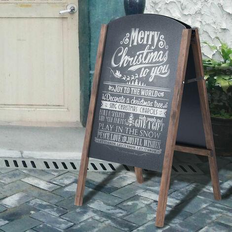 A-Board Frame Pavement Sign Free Standing Floor Chalkboard Cafe Shop Pub Board 45*45*78CM