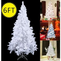 A Christmas Xmas Tree Hausen Traditional White Indoor Artificial Decoration Tree 6FT