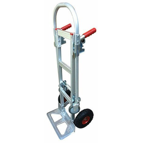 A. Diable chariot aluminium - Charge max 250kg / 350kg - Roues gonflables