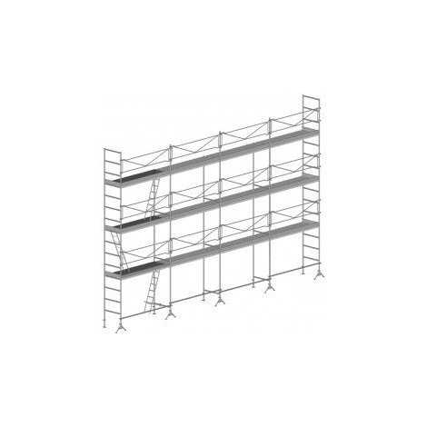 A. Echafaudage de maçon de 104m² : Structure seule