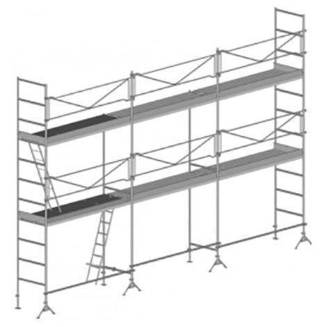 A. Echafaudage de maçon de 60m² : Structure seule