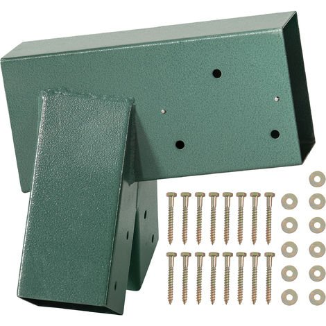 A-Frame Bracket - Green Powder Coating - Bolts Included