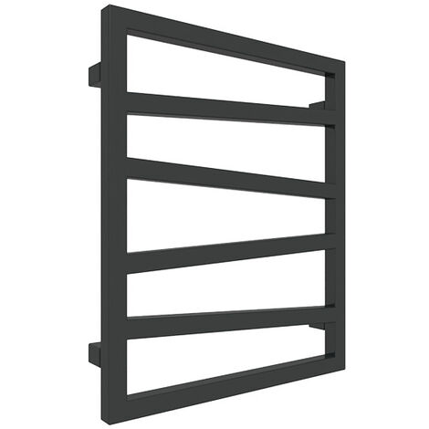 """main image of """"Sèche-serviette mixte noir - Raccordement au centre et à droite - Zigzag/Z8N (plusieurs tailles disponibles)"""""""