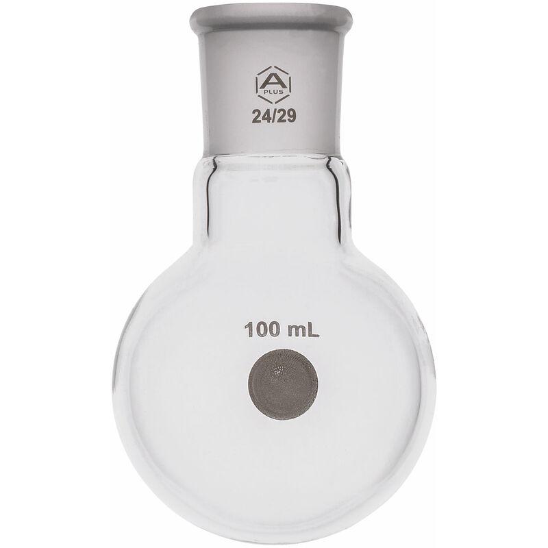Image of A PLUS Round Bottom Flask Single Neck 100ml, 24/29