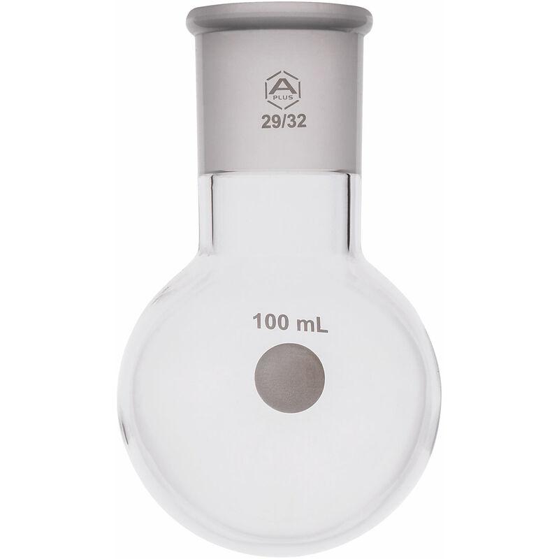 Image of Round Bottom Flask Single Neck 100ml, 29/32 - A Plus