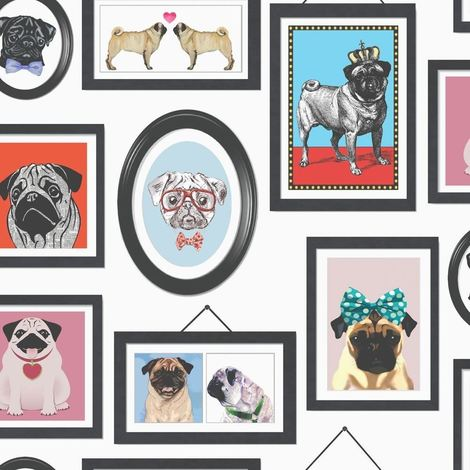 A Pug's Life Photo Frames Wallpaper Dogs K9 Canine Canine Animals Holden Decor