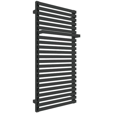 """main image of """"Petit sèche-serviette mixte noir - Raccordement aux extrémités - City/V2N (plusieurs tailles disponibles)"""""""