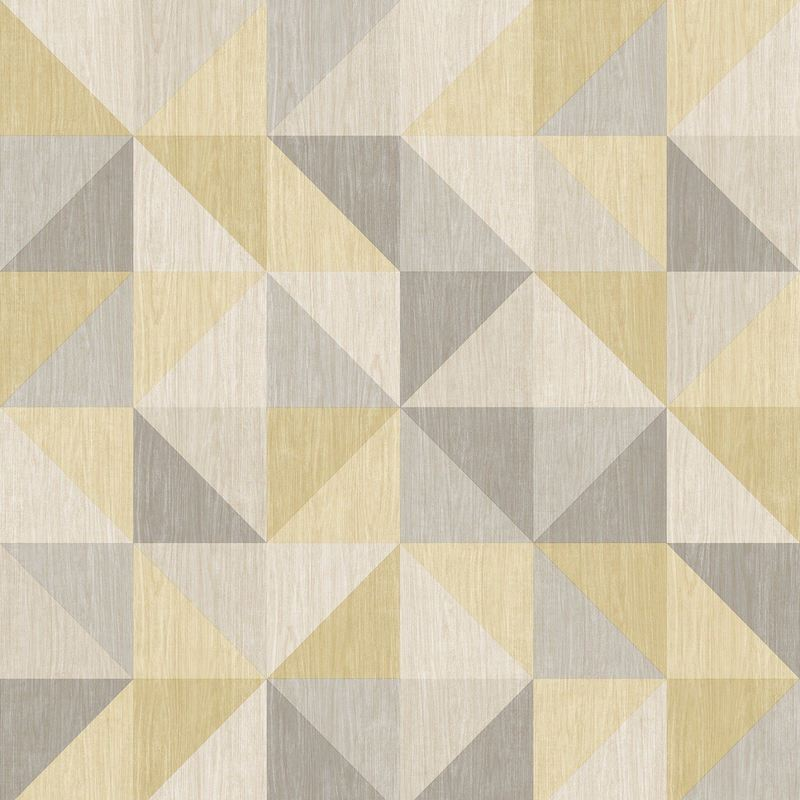 Image of Geometric 3D Effect Wallpaper Squares Triangles Luxury Modern - A Street Prints