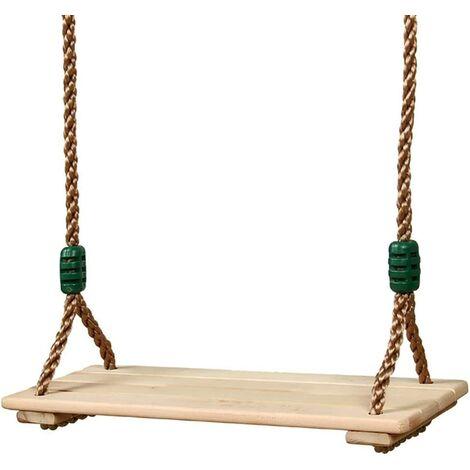 à suspendre Arbre balançoire pour adultes enfants poli Four-board anti-corrosion Bois balançoire extérieur/intérieur