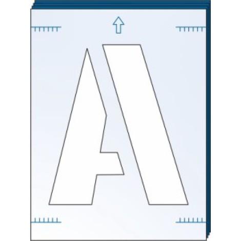 A-Z 0-9 Industrial Stencils - Letter Number ALPHABET reusable - 75mm