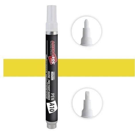 A10 stylo-feutre 10 ml pointe moyenne jaune - PENGIALLO - Ambro-sol - Jaune