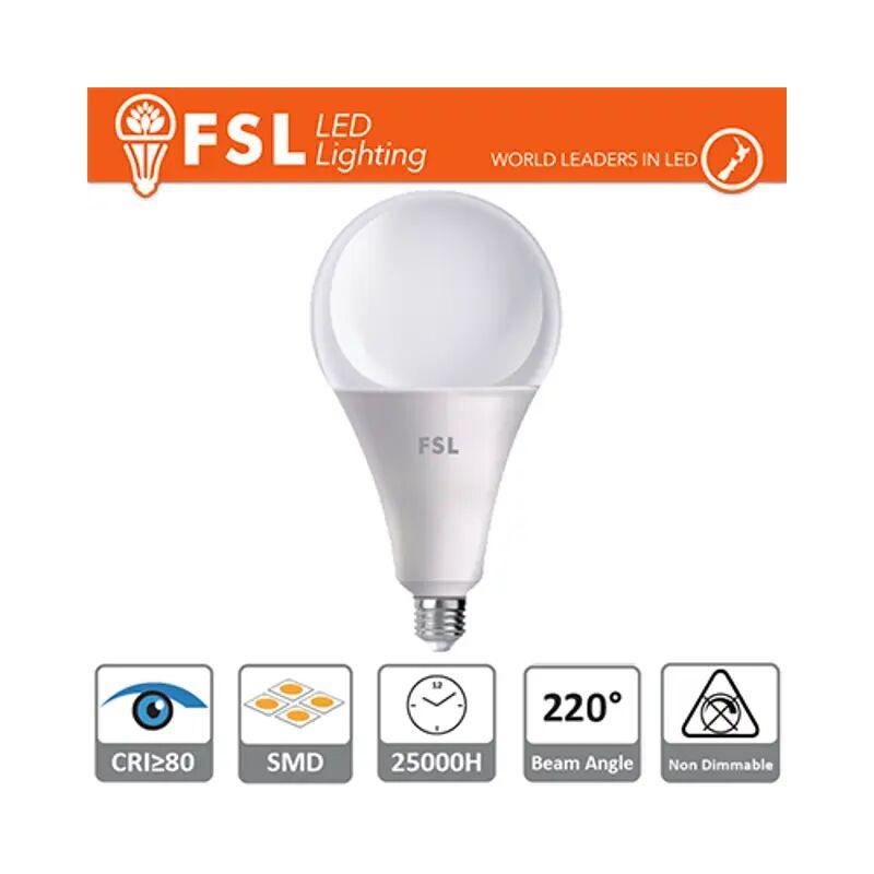 lampadina led bulbo a120 15000 ore 180° 220-240 volt 24 watt A+ CE E27 bianco caldo no lif fla120b24w30k27