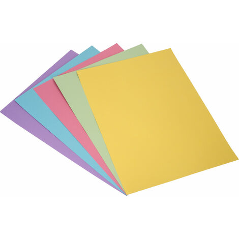 A2 Assorted Pastel Coloured Card 220gsm Pack of 30