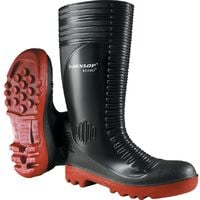 A252931 Acifort Ribbed Black Safety Wellington Boots