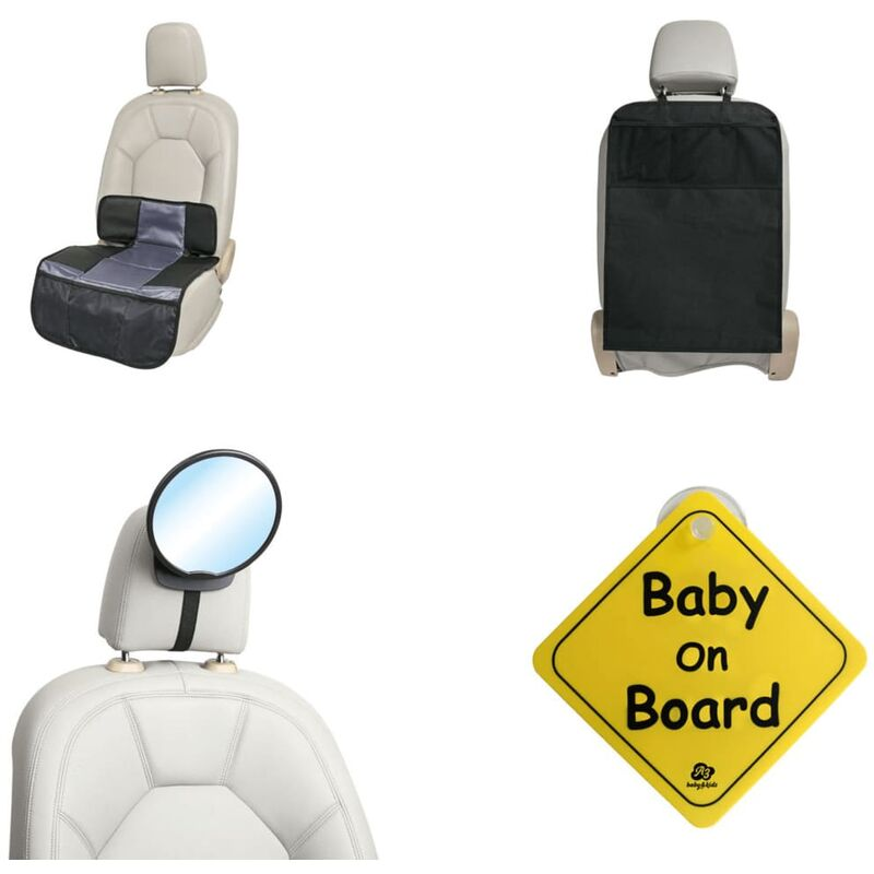 Image of 4 Piece Baby Car Accessories Set Black - Black - A3 Baby&kids