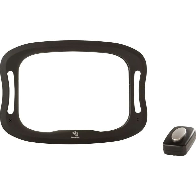 Image of Baby Car Mirror with LED 28.5x21.4x8cm Black - Black - A3 Baby&kids