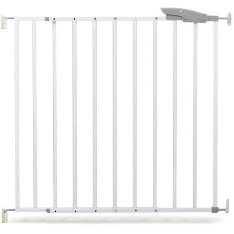 A3 Baby & Kids Puerta de seguridad Oslo 73-107 cm metal blanco 64633