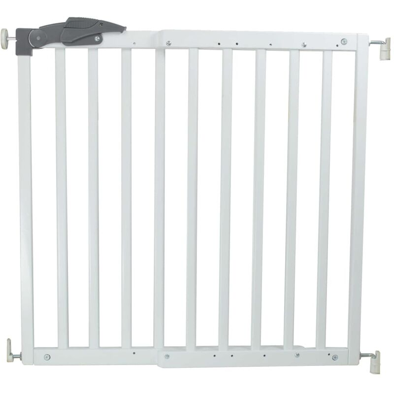 Image of Safety Gate Oslo 71-102 cm Wood White 64634 - White - A3 Baby&kids