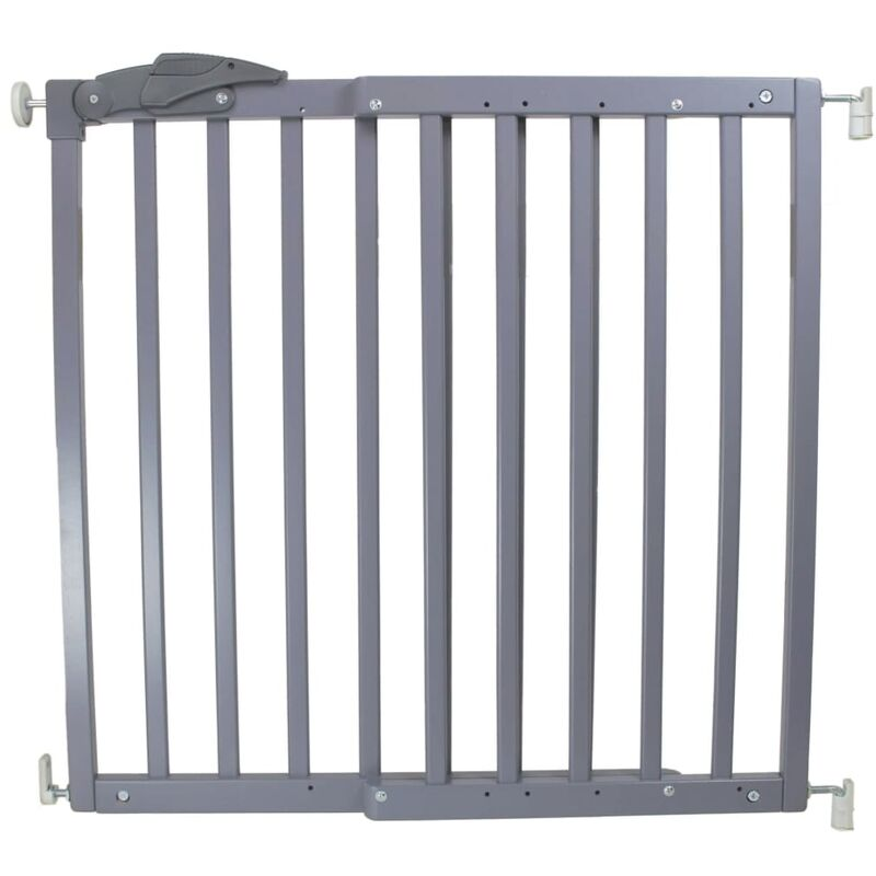 Image of Safety Gate Oslo 71-102 cm Wood Grey 64635 - Grey - A3 Baby&kids