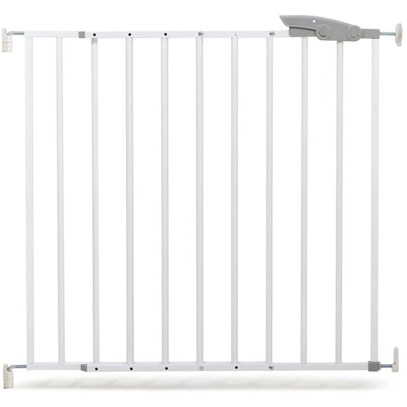 Image of Safety Gate Oslo 73-107 cm Metal White 64633 - White - A3 Baby&kids