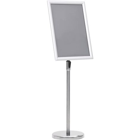 A3 Pedestal Poster Stand Silver Aluminium Alloy