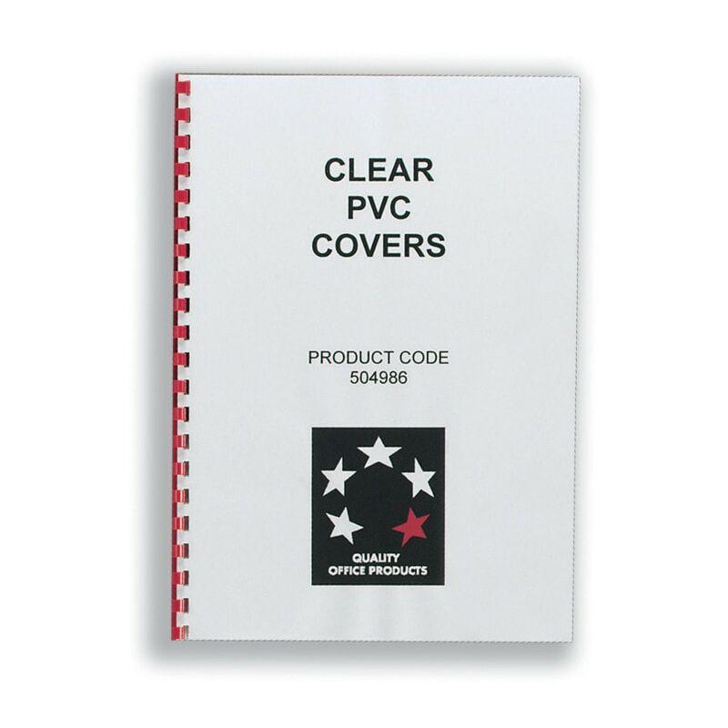 Image of Star 5 Star Black Leather Grain Binding Covers (Pk-100) - Five