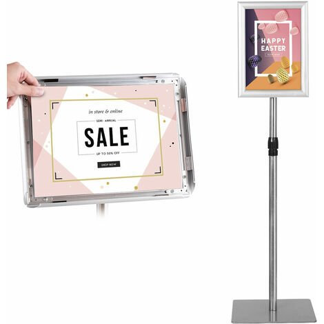 A4 Pedestal Poster Stand Display Floor Stand Sign Menu Outdoor External Holder
