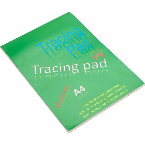 A4 Tracing Paper Pad With 40 Sheets 62gsm