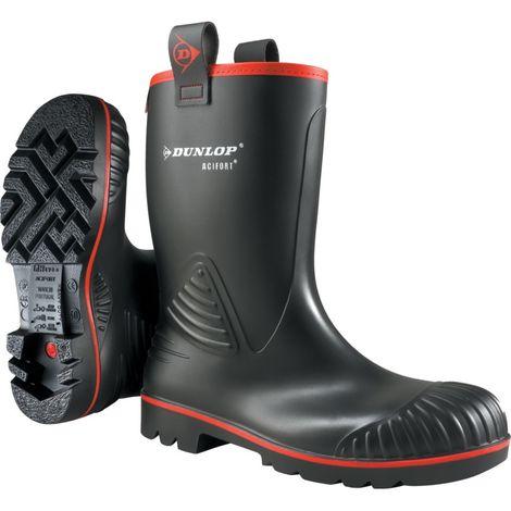 A442033FL Acifort Rocker Black Safety Wellington Boots