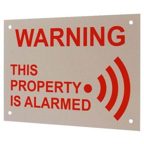A5 External Alarm Warning Sign [005-2070]