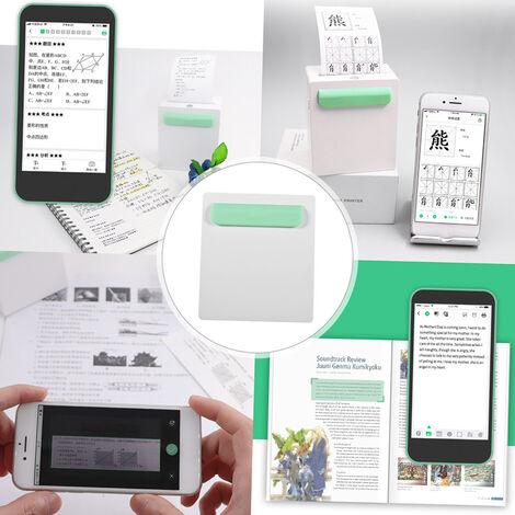 A8 304dpi,Impresora de etiquetas de boleto termica Bluetooth portatil, verde