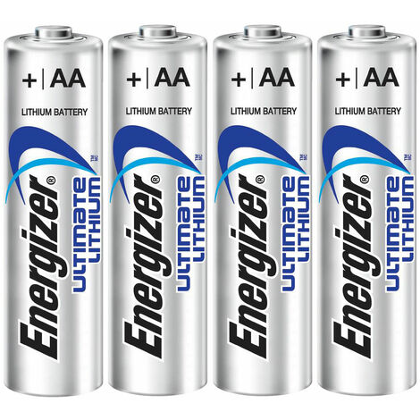 AA Battery High Energy Energizer Lithium AA 4 Pack World's Longest Lasting