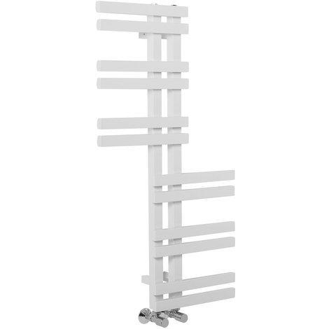 Aarhus 1000 x 550mm White Reversible Heated Towel Rail