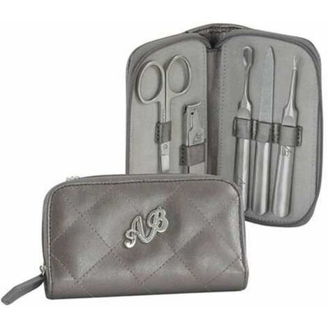 AB Collezioni Ladies Glamour Manicure Case Set With Nail Scissors Clippers, 2PK