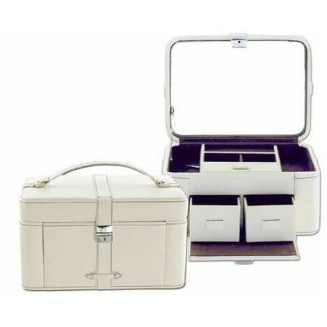 AB Collezioni Lady Womens Ladies Magnolia Leather Jewellery Box Perfect Gift 2PK