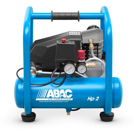 ABAC - Compresor de pistón lubricado 9L 10 bar 2,5CV 16,2 m3/h - PRO START ROLLING L25P